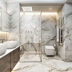 Bathroom inspiration, products and design! - Bathroom inspiration, products and design! Dream Bathrooms, Beautiful Bathrooms, Luxury Bathrooms, Small Bathrooms, Modern Room, Modern Bathroom, Modern Shower, Royal Bathroom, Bathroom Marble