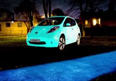 Nissan Leaf Absorbs UV Light By Day, Glows In The Dark At Night!  ... see more at InventorSpot.com