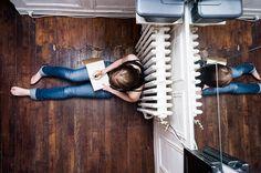 Voyeuristic Bird's Eye Views of People Inside Their Homes - My Modern Met