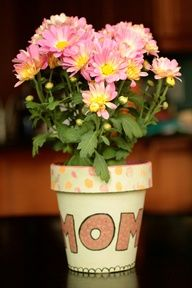 Hand Painted Mothers Day Flower Pot