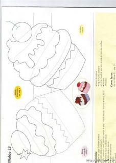 "cupcake applique template for ""building"" cupcakes Applique Templates, Applique Patterns, Applique Quilts, Applique Designs, Embroidery Applique, Owl Templates, Felt Patterns, Sewing Patterns, Foam Crafts"