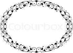 7210905-oriental-floral-ornamental-black-oval-frame.jpg (800×582)