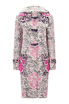 CHANTY DUFFLE COAT ROSE PHILLIPE Horror vacui vs modernism, the parameters of space and decadence are redefined in the Chanty Duffle, Katrantzou's ode to the parka