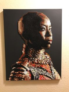 A personal favorite from my Etsy shop https://www.etsy.com/listing/601731829/black-panthers-okoye-portrait-made-from