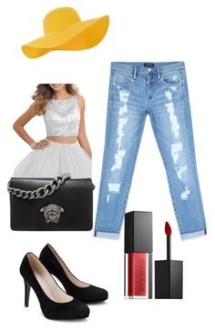 """""""Mẹ Thái An Test"""" by toasoan on Polyvore featuring Bebe, Accessorize, Versace and Smashbox"""