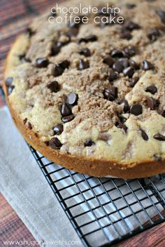 Chocolate Chip Coffee Cake w/ Cinnamon Swirl
