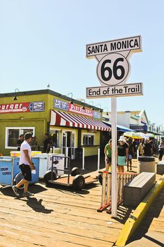Santa Monica Pier - End of Route 66 + Where to Stop on Your Los Angeles to San Francisco Road Trip #santamonica #route66 #california #la #losangeles #socal #southerncalifornia // localadventurer.com