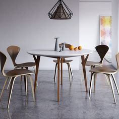 Eco-Natura Anja Round Dining Table