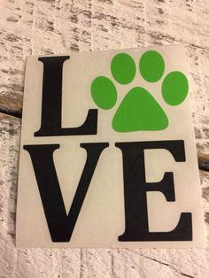 Love Dogs Animal Hippie Vinyl Decal / Sticker Car Truck Tumbler Cups | eBay Car Window Decals, Car Decals, Vinyl Decals, Silhouette Projects, Silhouette Design, Rainy Day Crafts, Fancy Fonts, Tumbler Cups, Cricut Vinyl