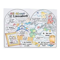 Color Your Own All About The 10 Commandments Posters - OrientalTrading.com