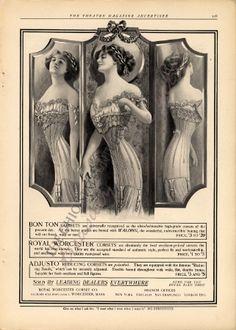vintage corset ad| More Vintage Corset Advertising --> http://www.pinterest.com/thevioletvixen/vintage-advertising/