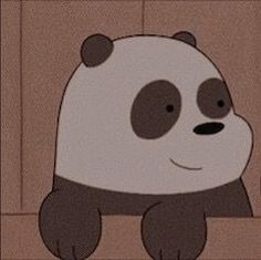 cartoon : we bare bears character : panda Cute Panda Wallpaper, Cartoon Wallpaper Iphone, Bear Wallpaper, Cute Cartoon Wallpapers, Disney Wallpaper, Panda Icon, We Bare Bears Wallpapers, Images Esthétiques, We Bear