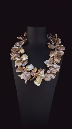 Statement Large Keshi Pearls Freshwater Keshi 'Petal' pearl statement necklace