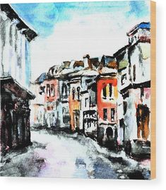 Old Town Wood Print featuring the mixed media Bucharest Old Town by Cuiava Laurentiu Framed Prints, Canvas Prints, Bucharest, Wood Print, Old Town, Art For Sale, Fine Art America, Mixed Media, Tapestry