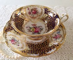 Royal Chelsea China Tea Cup & Saucer by TheEclecticAvenue on Etsy