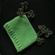 Shamrock Pom Pom Hat ~ St. Patricks Day Hat ~ Crocheted Pom Pom Hat with Clovers ~ Photo Prop Newborn  - Toddlers by dcoycrochetsforyou on Etsy
