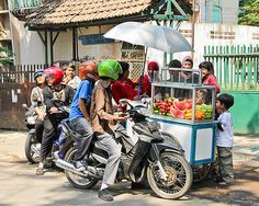 Bandung Indonesia, drive thru, Street Food   - Explore the World with Travel Nerd Nici, one Country at a Time. http://TravelNerdNici.com