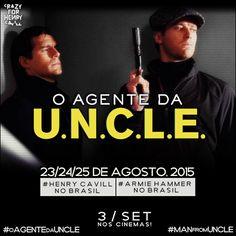 Faltam 11 dias, para o Brasil receber os O Agente da U.N.C.L.E.! #oagentedauncle #HenryCavillnoBrasil