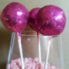 Sparkly Cheesecake Pops created by Annie Mae's Cheesecakes & Moore... WWW.Anniemaescheesecakes.Com