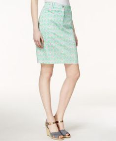 Charter Club Diamond-Print Skort, Only at Macy's | macys.com