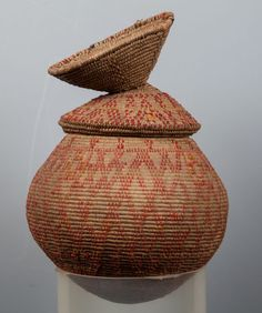 Bedouin Container... Basket Technique... ETHNOGRAPHIC... Rare