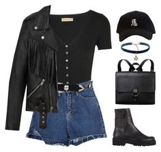 A fashion look from October 2016 featuring fringe jackets, jean shorts and black boots. Browse and shop related looks. Kpop Fashion Outfits, Edgy Outfits, Swag Outfits, Cute Casual Outfits, Pretty Outfits, Fall Outfits, Mode Rockabilly, Polyvore Outfits, Looks Style