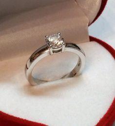 Vintage Ringe - 18,5 mm Ring 925 Silber mit Kristall-Stein SR628 - ein Designerstück von Atelier-Regina bei DaWanda