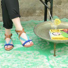 kunststof kleed extra large | medaillon - mint - ecru - urbansandindians.com