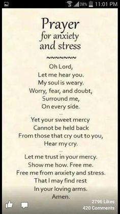 Worry & Sress Prayer