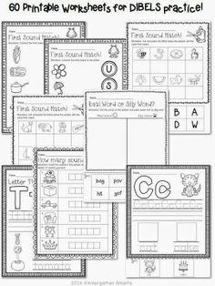 Kindergarten DIBELS Practice - worksheets and activities