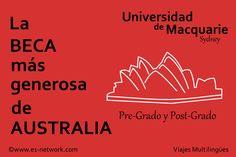 La #Beca más generosa de #Australia   Más info en: http://www.e1-network.com/notibecas/pre-beca.html