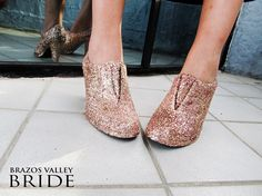 DIY Glitter Shoes with Modge Podge | Brazos Valley Bride