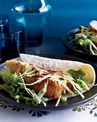Chef Tomas Lee was eager to add to the Asian-taco craze by flavoring panko-breaded fried-fish tacos with hoisin mayonnaise in this Crispy Fried-Fish Tacos.