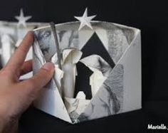 Resultado de imagen para belen origami paso paso