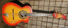 Orfeus vintage electric-acoustic guitar from Soviet-era Bulgaria - http://dailynerdy.com/orfeus-vintage-electric-acoustic-guitar-from-soviet-era-bulgaria/