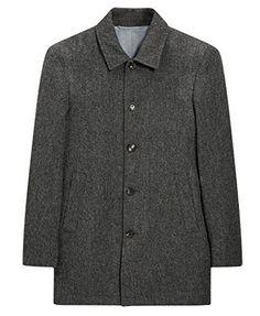 Boss Orange by Hugo Boss Men's Ofanta Wool Jacket Pea Coat-Grey ...