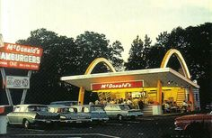 The McDonald brothers' Golden Arches standardized design, created by Southern California architect Stanley Clark Meston