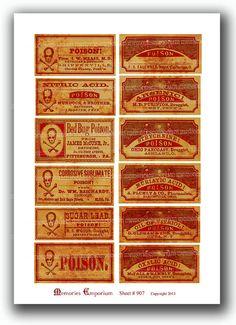 Vintage Drug Labels - Google zoeken