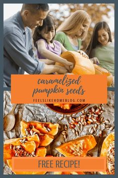The best simple and easy roasted pumpkin seeds. This sweet and sugary recipe uses butter and cinnamon for the perfect crunchy snack. Seasoned and baked in the oven. How to make and eat unshelled pumpkin seeds. Raw Pumpkin Seeds, Roasted Pumpkin Seeds, Pumpkin Pie Spice, Learning Through Play, Fun Learning, Overwhelmed Mom, Math Activities For Kids, Allergy Free Recipes, Healthy Dishes