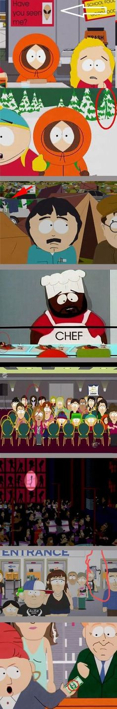 Hidden aliens in South Park // funny pictures - funny photos - funny images - funny pics - funny quotes - #lol #humor #funnypictures