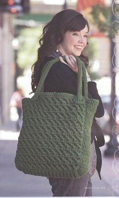 Inspiration: Chrochet or Knit Tote Bag - BOLSA MARAVILHOSA