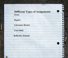 Different Types of Assignments