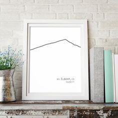 Mount Elbert Colorado Mountain Print, Minimalist Printable Art, Sketch Art, Digital Wall Art Print, Black and White Decor, Minimalist Poster
