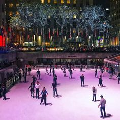The rink at Rockefeller Center is open by @mickmicknyc by newyorkcityfeelings.com - The Best Photos and Videos of New York City including the Statue of Liberty Brooklyn Bridge Central Park Empire State Building Chrysler Building and other popular New York places and attractions.