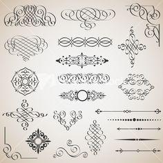 Download Vector Set Of Calligraphic Design Elements | @graphicstock