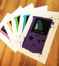Gameboy Color Posters - Set of 5. via Etsy.