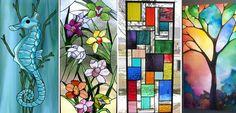 40 υπέροχες ιδέες για βιτρώ - ζωγραφική σε γυαλί - Faux βιτρώ!   Φτιάξτο μόνος…