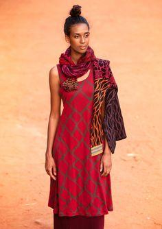 """""""Giraff"""" lyocell dress – Dresses – GUDRUN SJÖDÉN – Webshop, mail order and boutiques   Colorful clothes and home textiles in natural materials."""