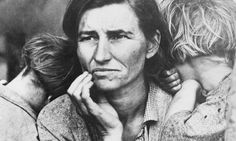 Great Figures In American History | Florence Owens Thompson, a migrant worker and mother of seven children ...