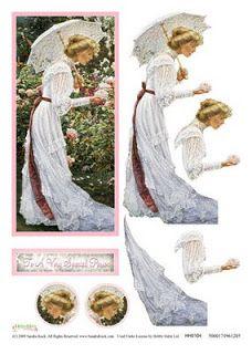 decoupage 3d lady sewgood